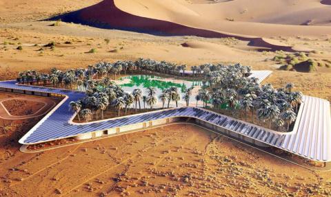 Уникальный эко-курорт построят посреди пустыни в ОАЭ