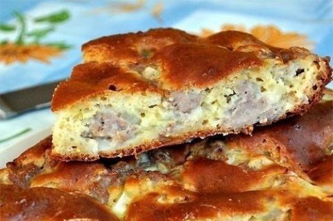 Пирог мясной «Легче не бывает»