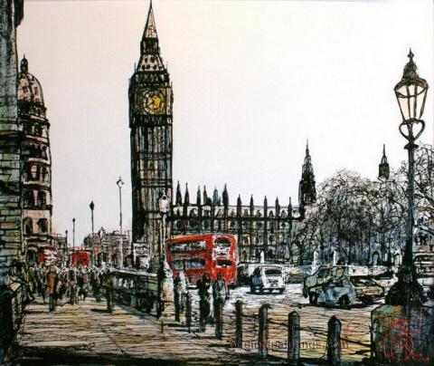 Рисунки городов мира
