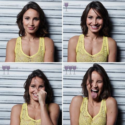 Нетривиальный фотопроект : как  меняются лица людей после одного-двух-трёх бокалов вина...