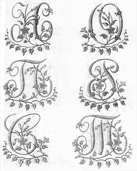 Русский алфавит вышивка монограмм