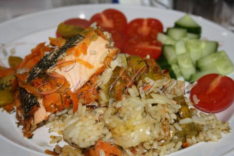 Рыба в фольге — МОЯ интерпритация... с сегодняшнего стола !!!! (рецепт недели)