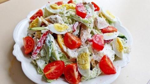 Салат из куриной грудки прос…