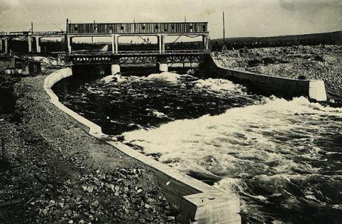 Первая гидроэлектростанция з…