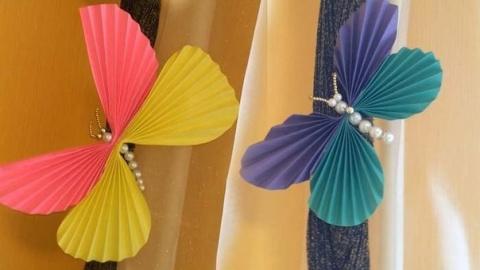Детская территория. Делаем бабочек из бумаги