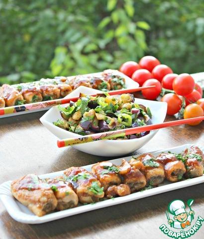 Салат из баклажанов и рулети…