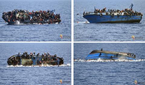 Лодка с мигрантами переверну…