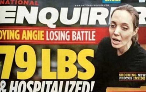 СМИ утверждают, что Анджелина Джоли умирает от истощения.  Дело доходит даже до угрозы разводом...
