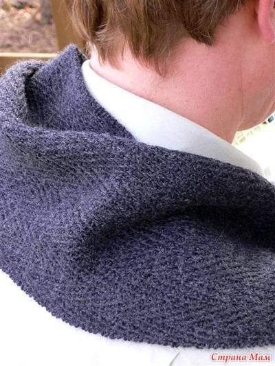 Свяжите тёплый шарф в подаро…