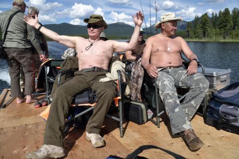 Отпуск Путина глазами крупны…