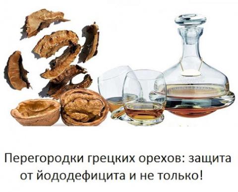 Перегородки грецких орехов: защита от йододефицита и не только!