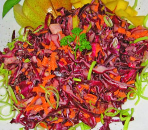Салат из красной капусты с грушей. Фото-рецепт. Olga Dell
