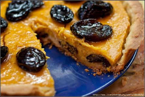 Тыквенный пирог с черносливо…