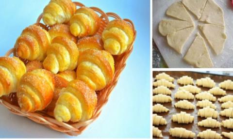 Рецепт дня — сладкие рогалик…