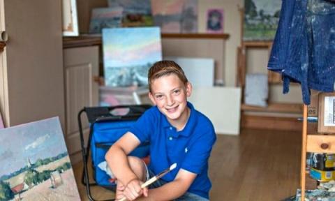 13-летний художник стал милл…