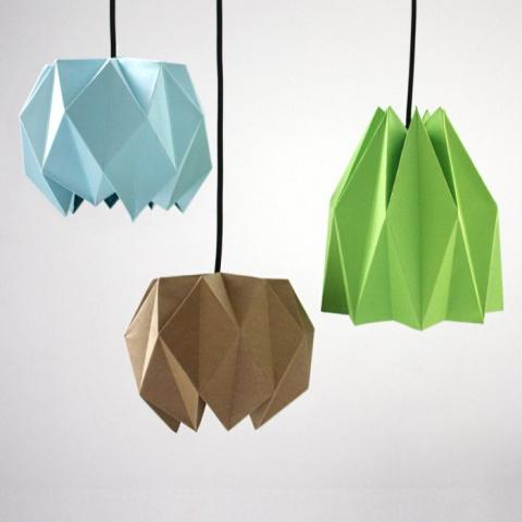 Схемы для бумажных абажуров в технике оригами