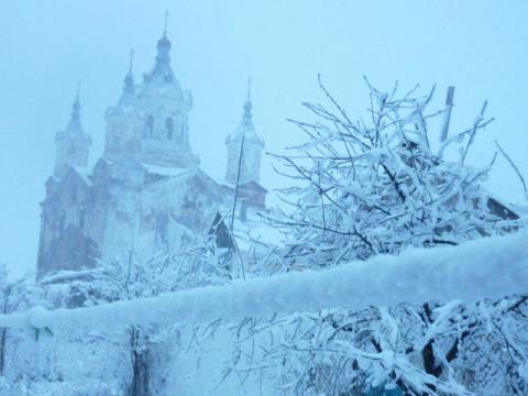 Моя зима в скрипучих санях...