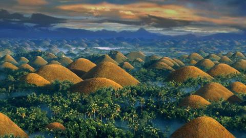 Шоколадные холмы на Филиппин…