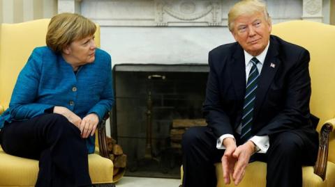 Меркель обратилась с призывом к Трампу относительно России