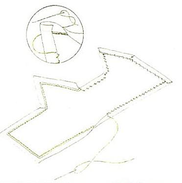 при укреплении вышивки на