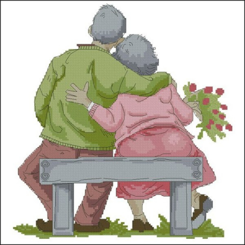 ВЫШИВАЙКА. Бабушка рядышком с дедушкой