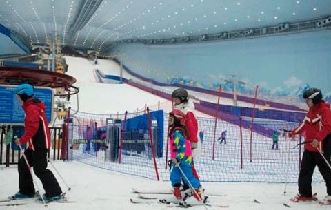 Китайские лыжники наслаждают…