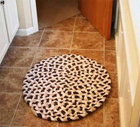коврик из старых полотенец