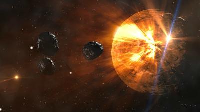 Два крупных астероида пролет…