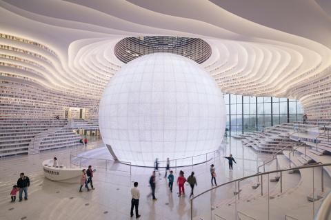 """Гигантская """"дизайнерская"""" библиотека в Китае"""