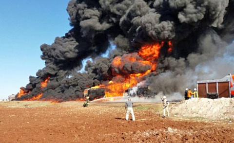 Сирийский десант уничтожил караван бензовозов ИГИЛ