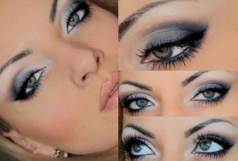 Серо-голубые глаза – секреты макияжа