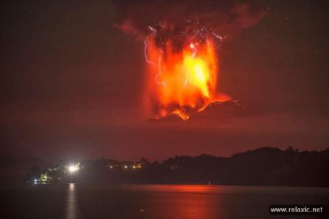 Извержение вулкана Кальбуко (17 фото)