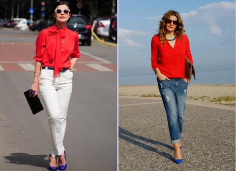С чем носить красную рубашку. Форма бровей и их коррекция