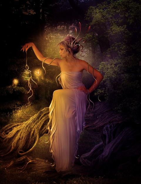 Красивые рисунки Елены Дудиной. Фэнтези