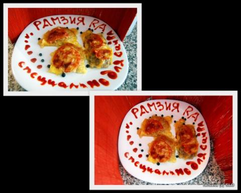 У вас осталась картофельная начинка для вареников...!?! - так это замечательно!!! Предлагаю из нее вот такое простое блюдо) Фото-рецепт.