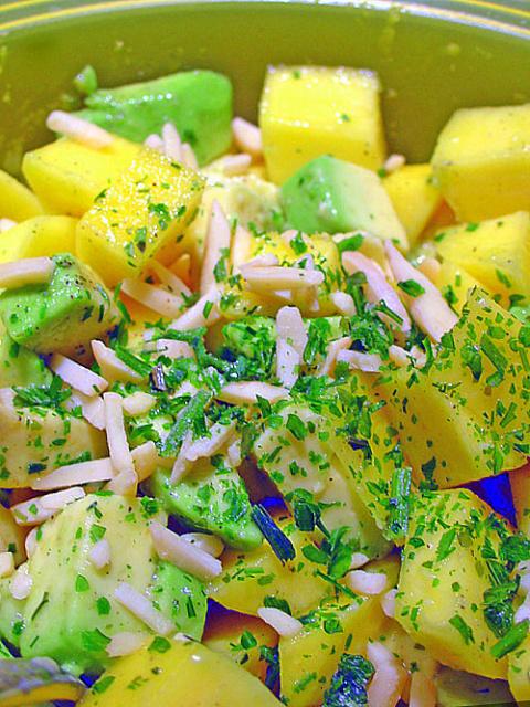 Салат из Авокадо и Манго . Фото-рецепт. Olga Dell