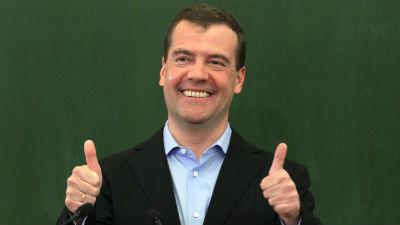 Твиттер Медведева взломали: …