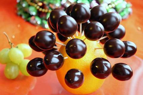 Виноград в шоколаде - готовим праздничное лакомство