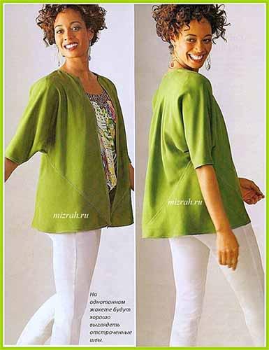 Блуза или жакет из квадратов
