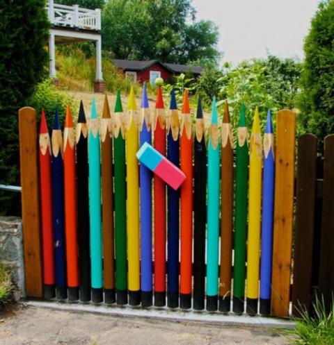 Идеи оригинальных садовых калиток