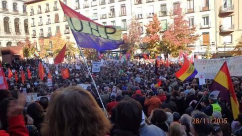Мадрид третий день протестует против агрессии НАТО и Турции (ФОТО, ВИДЕО)