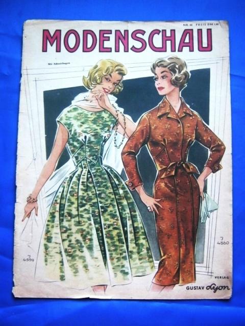 """По страницам """"Modenschau"""" — мода 50-х годов прошлого столетия"""