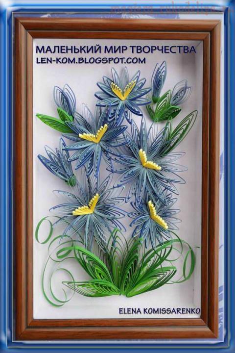 Петельчатые хризантемы. МК по квиллингу