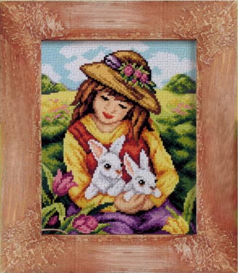 Девчушка с зайками.