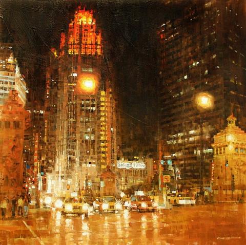 Энергия и дух города в картинах Маrk Laguё