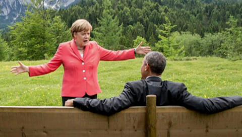 G7: самолюбование и танцующая Меркель