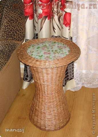 Плетеный чайный столик. Мастер-класс