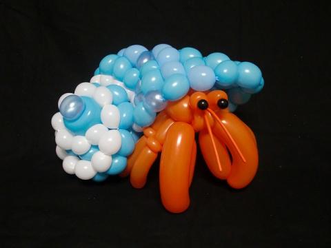 Животные из шариков, сделанн…