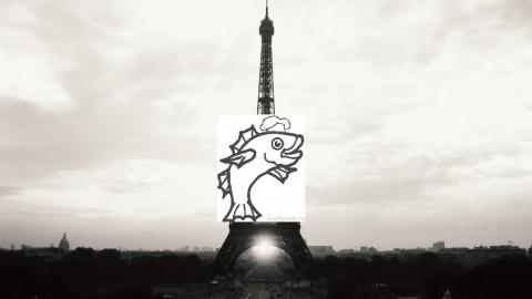 Суп «Эйфелева башня» из судака