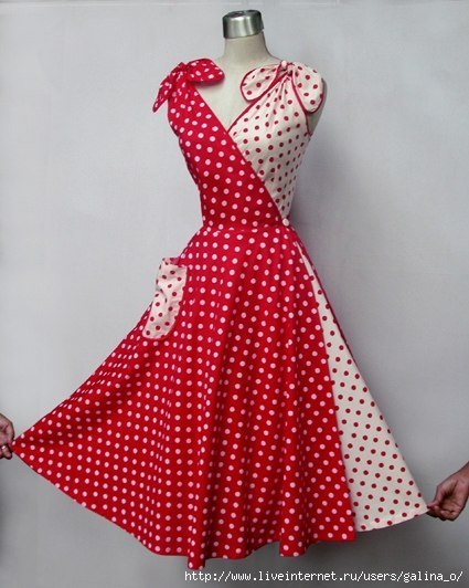Платье-трансформер 50-х